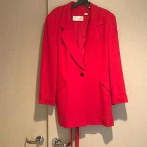 Long Belted Jacket Fushia